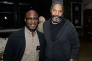 Director Barry Jenkins and writer John Ridley attend The Academy of Motion Picture Arts & Sciences 2017 New Members Party at NeueHouse Madison Square on October 2, 2017 in New York City.