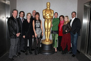 (L-R)Chris Cooper, Dermont Mulroney, Meryl Streep, Tracy Letts, Juliette Lewis, Julianne Nicholson, Margo Martindale, Abigail Breslin and John Wells attend The Academy of Motion Picture Arts and Sciences Hosts an Official Academy Members Screening of 'August: Osage County' on November 25, 2013 in New York City.