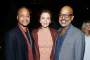 (L-R) Actor Cuba Gooding Jr., actor Maggie Gyllenhaal and AMPAS New York director of programs and membership Patrick Harrison attend The Academy of Motion Picture Arts and Sciences 2018 New Members Party at Top of the Rock's 620 Loft and Garden on October 1, 2018 in New York City.