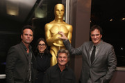 Walton Goggins, Stacey Sher, Kurt Russell and Quentin Tarantino attend The Academy Of Motion Picture Arts And Sciences Hosts An Official Academy Screening Of THE HATEFUL EIGHT on December 15, 2015 in New York City.