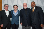 "(L-R) Gustavo Santaolalla, Gustavo Dudamel,  John Williams and Tavis Smiley arrive at The Academy Of Motion Picture Arts And Sciences' Presents ""Behind The Score: The Art Of The Film Composer"" at Bing Theatre At LACMA on July 21, 2014 in Los Angeles, California."