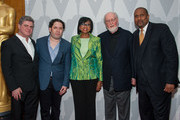 "(L-R) Gustavo Santaolalla, Gustavo Dudamel, Cheryl Boone Isaacs,  John Williams and Tavis Smiley arrive at The Academy Of Motion Picture Arts And Sciences' Presents ""Behind The Score: The Art Of The Film Composer"" at Bing Theatre At LACMA on July 21, 2014 in Los Angeles, California."