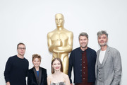 (L-R) Actors Sam Rockwell, Roman Griffin Davis, Thomasin McKenzie, producer Carthew Neal and writer, director, producer Taika Waititi attend The Academy of Motion Pictures Arts and Sciences official Academy screening of JoJo Rabbit at the MoMA Celeste Bartos Theater on October 17, 2019 in New York City.