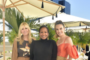 Irena Medavoy, Nicole Avant and Elizabeth Chambers attend Academy Museum of Motion Pictures Luminaries Luncheon Supported by JP Morgan Chase & Co at Academy Museum of Motion Pictures on January 28, 2020 in Los Angeles, California.