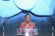 Photographer Garance Dore speaks onstage at the Accessories Council's 21st Annual celebration of the ACE awards at Cipriani 42nd Street  on August 7, 2017 in New York City.