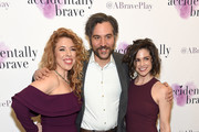 "Director Kristin Hanggi, Josh Radnor and Natalie Roy attend the ""Accidentally Brave"" Opening Night at DR2 Theatre on March 25, 2019 in New York City."