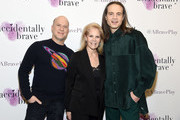 """Richie Jackson, Daryl Roth and Jordan Roth attend the """"Accidentally Brave"""" Opening Night at DR2 Theatre on March 25, 2019 in New York City."""
