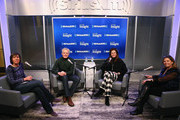 """Actor Kyle MacLachlan and wife Desiree Gruber sit down with Pattie Sellers and Nina Easton for SiriusXM's """"Making a Leader"""" series at SiriusXM Studios on March 01, 2019 in New York City."""