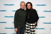 """(L-R) Actor Kyle MacLachlan and wife Desiree Gruber sit down with Pattie Sellers and Nina Easton for SiriusXM's """"Making a Leader"""" series at SiriusXM Studios on March 01, 2019 in New York City."""