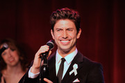 Singer Nick Adams performs during 'The Actors Fund And Tower Cancer Research' benefit concert at Birdland Jazz Club on October 14, 2013 in New York City.