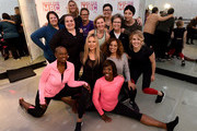 Metastatic breast cancer (MBC) activist and Oscar-winning actress Mira Sorvino joined fitness instructor and yoga expert Anna Kaiser as she led the crowd in doing the new Thriver yoga pose, symbolic of the strength and never-ending spirit of people living with MBC, to raise awareness for MBC and drive donations for the advocacy community at her AKT-Manhattan Studio on National Metastatic Awareness Day.