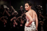 """Ruth Negga walks the red carpet ahead of the """"Ad Astra"""" screening during the 76th Venice Film Festival at Sala Grande on August 29, 2019 in Venice, Italy."""