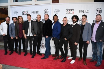 Adam Agee Dave Stovall Newsboys/Pure Flix Nashville Red Carpet Premiere of 'God's Not Dead 2'