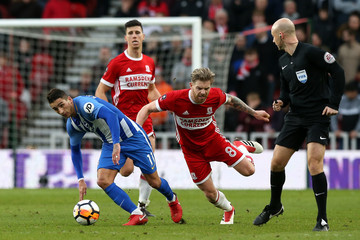 Adam Clayton Middlesbrough v Brighton and Hove Albion - The Emirates FA Cup Fourth Round