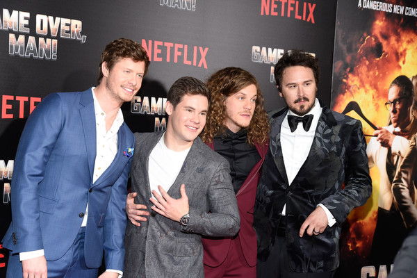 Premiere Of Netflix's 'Game Over, Man!' - Arrivals [game over,premiere,event,movie,fictional character,arrivals,man,blake anderson,kyle newacheck,adam devine,anders holm,netflix,premiere,premiere]