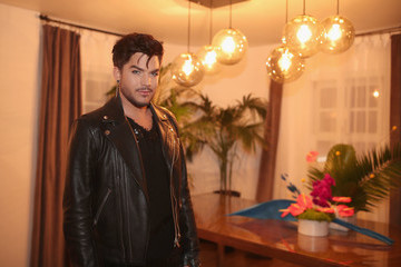 Adam Lambert Wolk Morais Collection 6 Fashion Show - Arrivals
