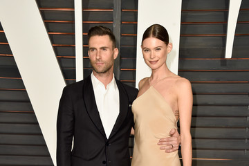 Adam Levine Behati Prinsloo Arrivals at the Elton John AIDS Foundation Oscars Viewing Party — Part 5