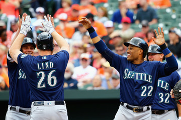 Adam Lind Seattle Mariners v Baltimore Orioles