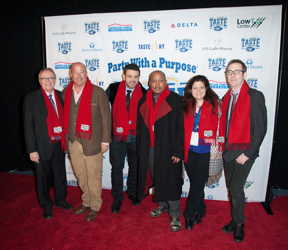 """Taste Of The NFL """"Party With A Purpose"""" [party with a purpose,event,red,team,community,employment,businessperson,carpet,tourism,company,award,andrew zimmern,adam richman,wayne kostroski,daymond john,alex guarnaschelli,taste,l-r,brooklyn cruise terminal,nfl]"""