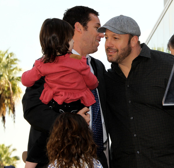 Kevin james in adam sandler honored on the hollywood walk for How many kids does kevin james have