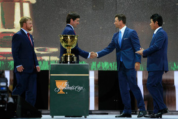 Adam Scott Bubba Watson The Presidents Cup - Preview Day 3