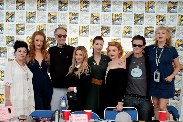 Comic-Con International 2018 - 'Twin Peaks' Autograph Signings And Fan Event [twin peaks,comic-con international 2018,social group,event,team,competition,nicole laliberte,george griffith,chrysta bell,amy shiels,l-r,autograph signings,san diego convention center,autograph signings and fan event]