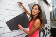 Ana Ivanovic of Serbia signs her autograph during the adidas ACE Case Launch at Crown Entertainment Complex on January 14, 2016 in Melbourne, Australia.