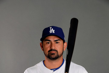 Adrian Gonzalez Los Angeles Dodgers Photo Day