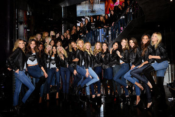 Adriana Lima Doutzen Kroes Victoria's Secret Fashion Show Media Event