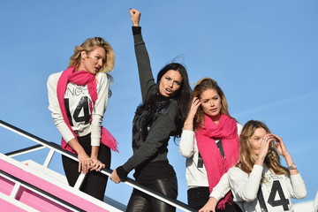 Adriana Lima Doutzen Kroes Victoria's Secret Models Leave NYC