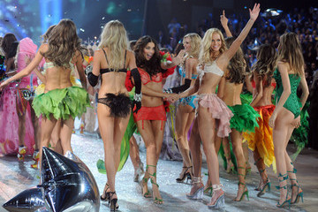 Adriana Lima Erin Heatherton 2012 Victoria's Secret Fashion Show - Runway