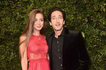 Adrien Brody Lara Leito Charles Finch And Chanel Pre-Oscar Awards Dinner At Madeo In Beverly Hills - Arrivals
