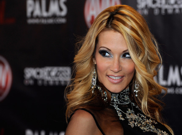 Adult film actress jessica drake arrives at the 27th annual Adult Video News ...