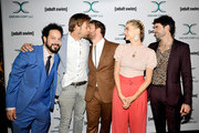 (L-R) Ahmed Bharoocha, Jimmi Simpson, Daniel Stessen, Megan Ferguson, and Nicholas Rutherford attends Adult Swim's DREAM CORP LLC Season 2 Premiere at Ace Hotel on October 17, 2018 in Los Angeles, California.