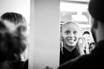 Adwoa Aboah H&M: Backstage - Paris Fashion Week Womenswear Fall/Winter 2018/2019