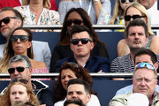 Former singer, song-writer, Rick Astley, watches on during the mens singles final between Feliciano Lopez of Spain and Marin Cilic of Croatia  during day seven of the 2017 Aegon Championships at Queens Club on June 25, 2017 in London, England.