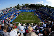 Sabine Lisicki of Germany in action in her quarter final match against Daniela Hantuchova of Slovakia on day five of the Aegon Classic at Edgbaston Priory Club on June 19, 2015 in Birmingham, England.