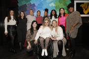 (L-R) Aly Raisman, Beanie Feldstein, Jenna Kutcher, Manuela Baron, Dre Thomas, Keiana Cave, Lana Condor, Tiff McFierce, Hari Nef, Ali Stroker, Iskra Lawrence attend as Aerie celebrates an Evening Of Change with with the #AerieREAL Role Models at The Blond on January 23, 2020 in New York City. (Photo by Gonzalo Marroquin/Getty Images for Aerie)Beanie Feldstein, Jenna Kutcher,  Ali Stroker