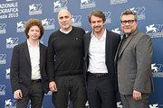 (L-R) Producers Michel Franco, Guillermo Arriaga, director Lorenzo Vigas and producer Rodolfo Cova attend a photocall for 'From Afar' during the 72nd Venice Film Festival at Palazzo del Casino on September 10, 2015 in Venice, Italy.