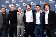 (L-R) Producers Rodolfo Cova, Guillermo Arriaga, actor Alfredo Castro, director Lorenzo Vigas, actor Luis Silva and producer Michel Franco attend a photocall for 'From Afar' during the 72nd Venice Film Festival at Palazzo del Casino on September 10, 2015 in Venice, Italy.