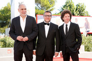 (L-R) Producers Guillermo Arriaga, Rodolfo Cova and Michel Franco attend a premiere for 'From Afar' during the 72nd Venice Film Festival at Sala Grande on September 10, 2015 in Venice, Italy.