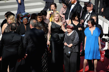 Agnes Varda 'Girls Of The Sun (Les Filles Du Soleil)' Red Carpet Arrivals - The 71st Annual Cannes Film Festival