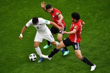Ahmed Hegazy Egypt Vs. Uruguay: Group A - 2018 FIFA World Cup Russia