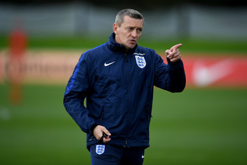 Aidy Boothroyd England U21 Training Session