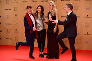 (L-R) Otto Waalkes, guest, Sabine Lisicki and Oliver Pocher attend the Bambi Awards 2015 at Stage Theater on November 12, 2015 in Berlin, Germany.