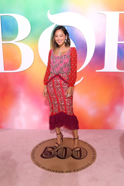 The Business Of Fashion Celebrates The #BoF500 2018 - Red Carpet Arrivals [clothing,fashion show,fashion,pink,beauty,fashion model,formal wear,fashion design,dress,runway,aimee song,bof500,hotel brooklyn bridge,brooklyn city,business of fashion celebrates,red carpet arrivals,gala dinner,new york fashion week]