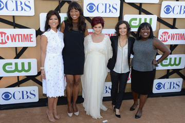 Aisha Tyler Sara Gilbert CW, CBS And Showtime 2013 Summer TCA Party - Arrivals