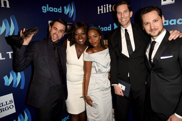 Aja Naomi King Jack Falahee Backstage - 26th Annual GLAAD Media Awards