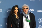 A guest and Director Elia Suleiman attend the 'It must be heaven' screening on the opening night of the annual Ajyal Youth Film Festival presented by the Doha Film Institute on November 18, 2019 in Doha, Qatar.
