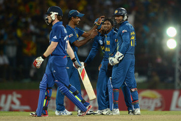 Akila Dananjaya Sri Lanka v England - ICC World Twenty20 2012: Super Eights Group 1